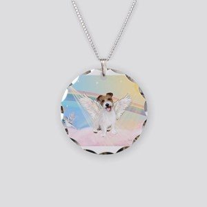 Angel /Jack Russell Terrier Necklace Circle Charm