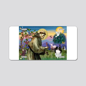 St Francis / Japanese Chin Aluminum License Plate