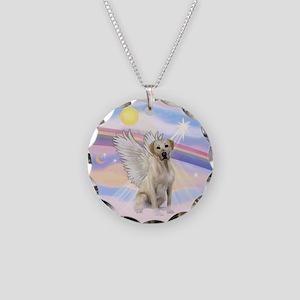 Angel Labrador Necklace Circle Charm
