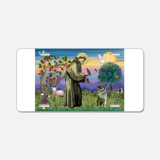 St Francis / Nor Elk Aluminum License Plate
