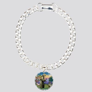 St Francis / Nor Elk Charm Bracelet, One Charm