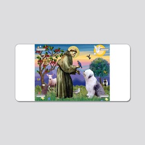 ST. FRANCIS + OES Aluminum License Plate