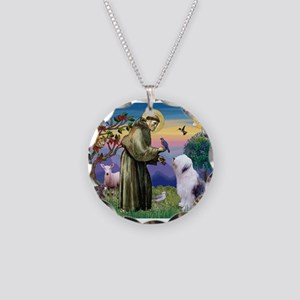 ST. FRANCIS + OES Necklace Circle Charm