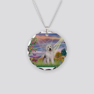 Cloud Angel / OES Necklace Circle Charm