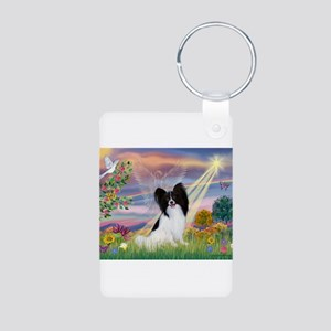 Cloud Angel & Papillon Aluminum Photo Keychain