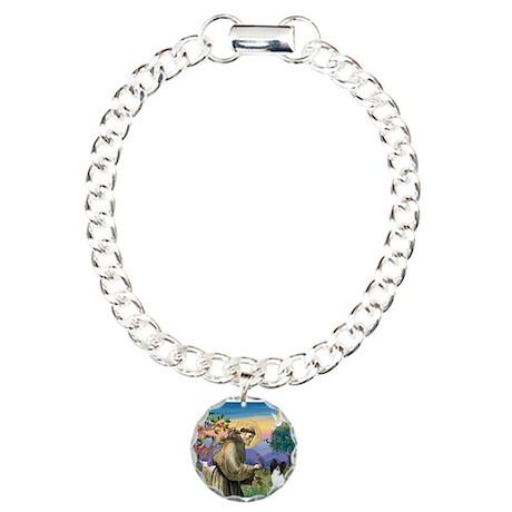 St Francis & Papillon Charm Bracelet, One Charm
