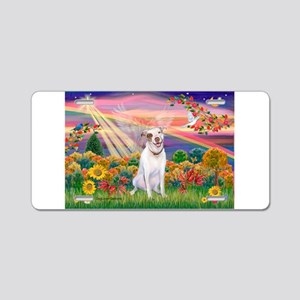 Autumn Angel / Pit Bull Aluminum License Plate