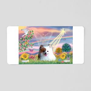 Cloud Angel / Pomeranian (r&w Aluminum License
