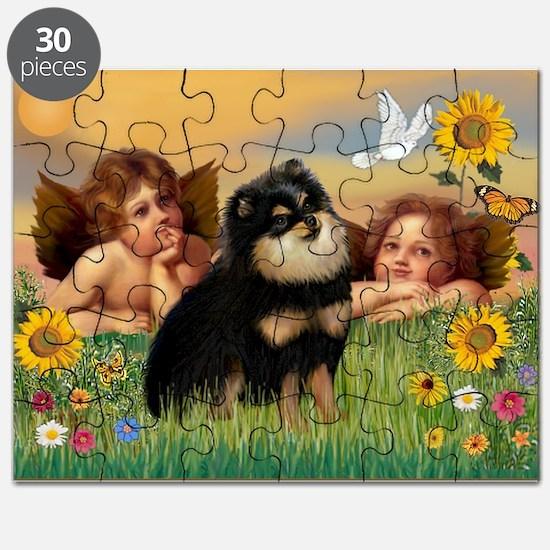 Cherubs /Pomeranian (b&t) Puzzle