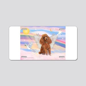 Angel/Poodle (Aprict Toy/Min) Aluminum License Pla