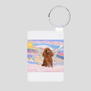 Angel/Poodle (Aprict Toy/Min) Aluminum Photo Keych