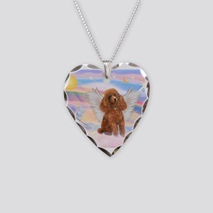 Angel/Poodle (Aprict Toy/Min) Necklace Heart Charm