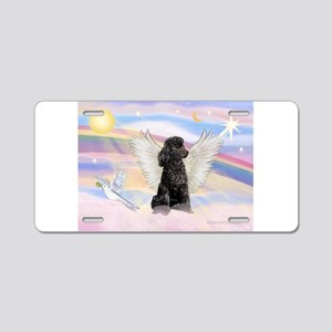 Angel/Poodle (blk Toy/Min) Aluminum License Plate