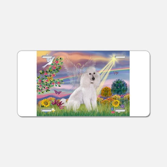 Cloud Angel /Poodle std (w) Aluminum License Plate