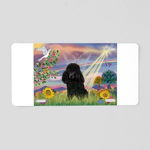 Cloud Angel / Poodle (blk#2) Aluminum License Plat