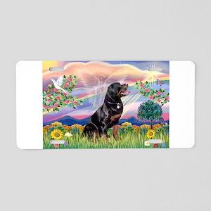Cloud Angel / Rottweiler Aluminum License Plate