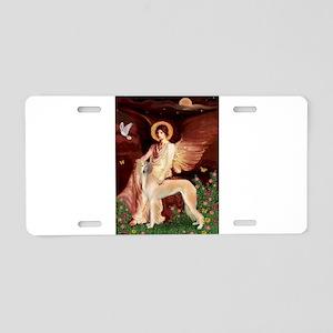 Seated Angel / Saluki Aluminum License Plate