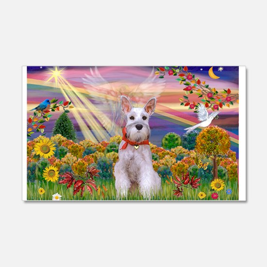 Autumn Angel Schnauzer 22x14 Wall Peel