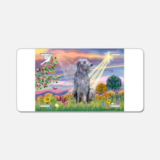 Cloud Angel / Scottish Deerho Aluminum License Pla