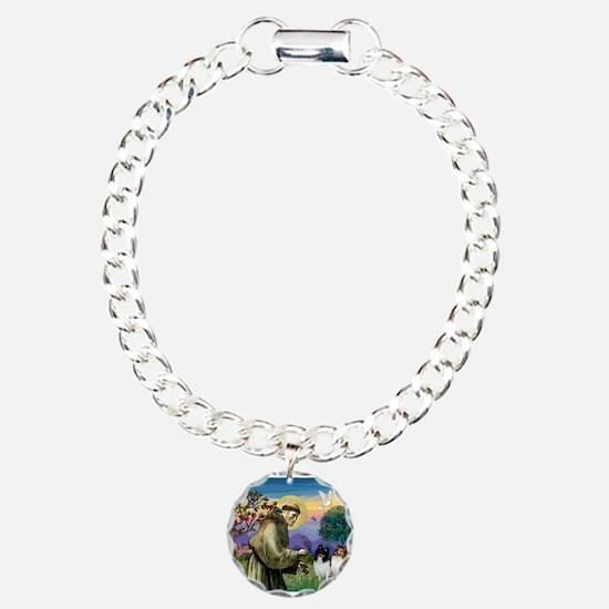 St Francis / Sheltie pair Bracelet