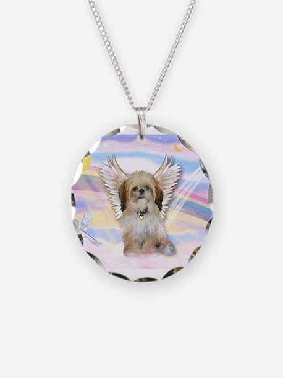Shih Tzu / Angel Necklace Circle Charm
