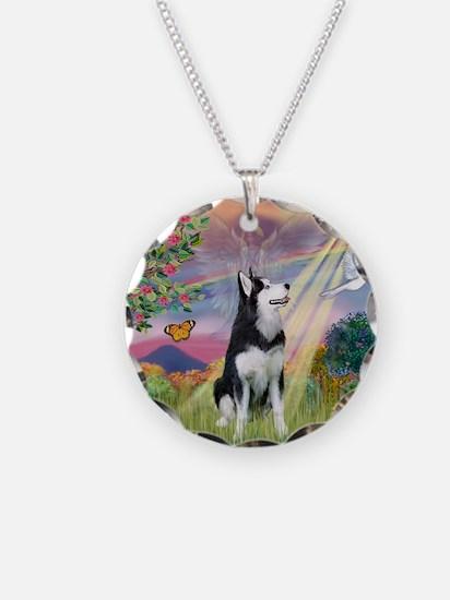 Cloud Angel / Siberian Husky Necklace