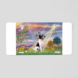 Cloud Angel /Toy Fox Terrier Aluminum License Plat