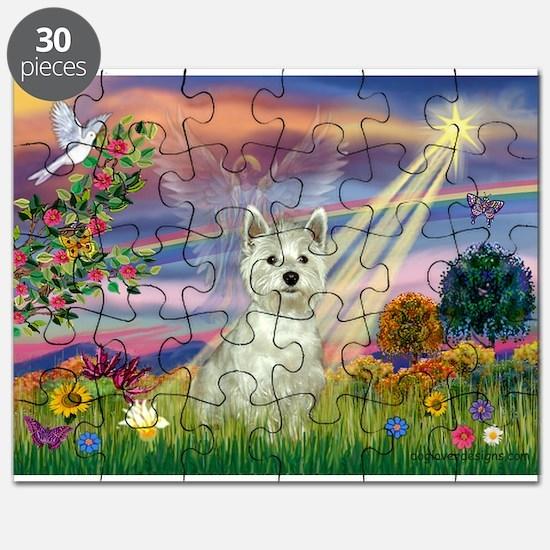 Cloud Angel / Westie Puzzle