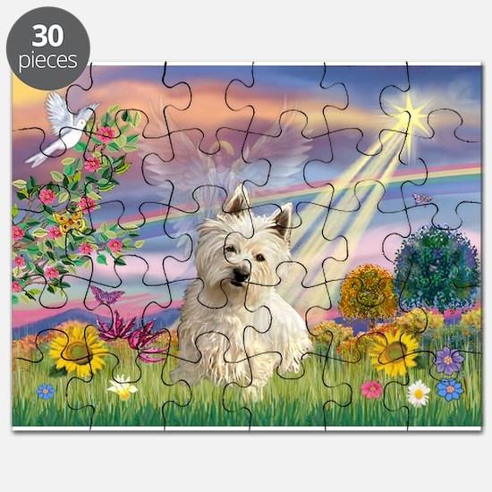 Cloud Angel & Westie Puzzle