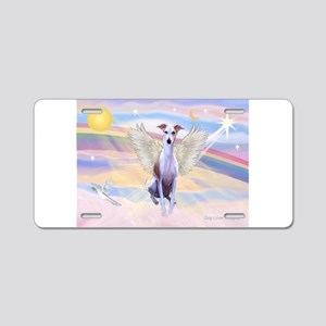 Clouds / Whippet Aluminum License Plate