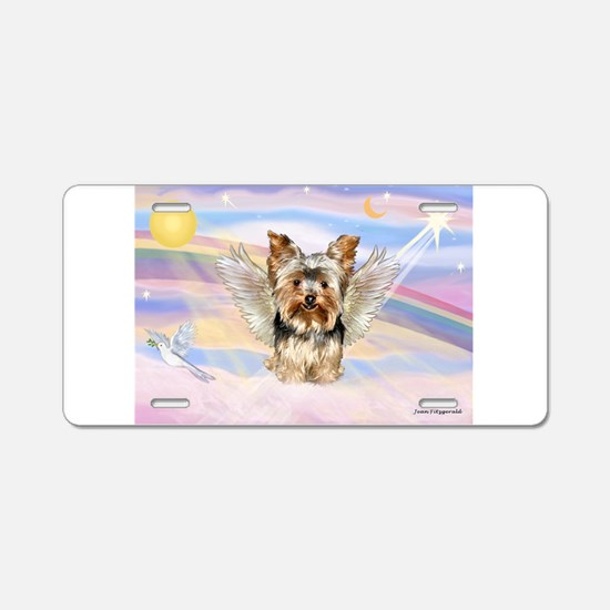Yorkie (#17) in Clouds Aluminum License Plate