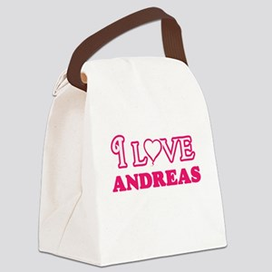 I Love Andreas Canvas Lunch Bag
