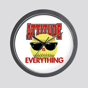 Attitude-Softball Wall Clock