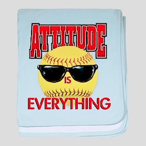 Attitude-Softball baby blanket