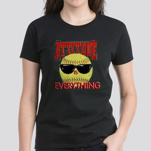 Attitude-Softball Women's Dark T-Shirt