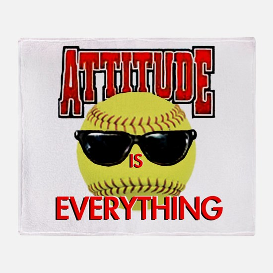 Attitude-Softball Throw Blanket