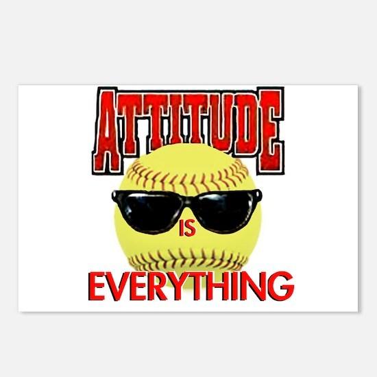 Attitude-Softball Postcards (Package of 8)