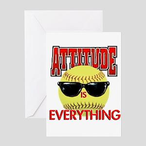 Attitude-Softball Greeting Card