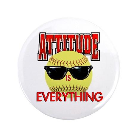 "Attitude-Softball 3.5"" Button (100 pack)"