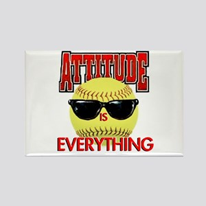 Attitude-Softball Rectangle Magnet