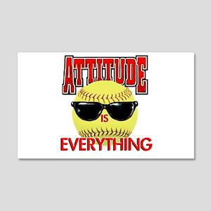 Attitude-Softball 20x12 Wall Decal