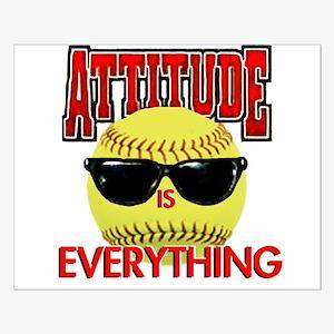 Attitude-Softball Small Poster