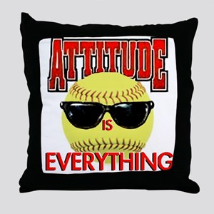 Attitude-Softball Throw Pillow