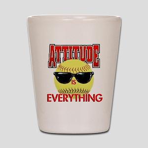 Attitude-Softball Shot Glass