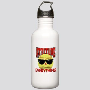 Attitude-Softball Stainless Water Bottle 1.0L