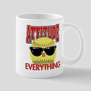 Attitude-Softball 11 oz Ceramic Mug