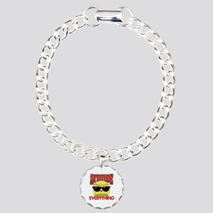 Attitude-Softball Charm Bracelet, One Charm