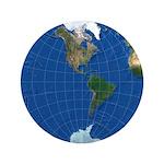 "World Map Sphere 2: 3.5"" Button"