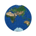 "World Map Sphere 3: 3.5"" Button"