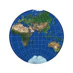 "World Map Sphere 3: 3.5"" Button"